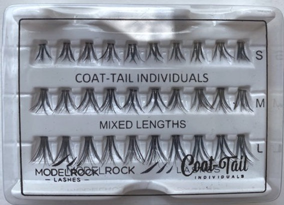Modelrock individual Eyelashes - Coat Tail mixed lengths