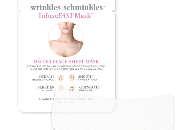 Wrinkles Schminkles Chest Sheet Mask Front View