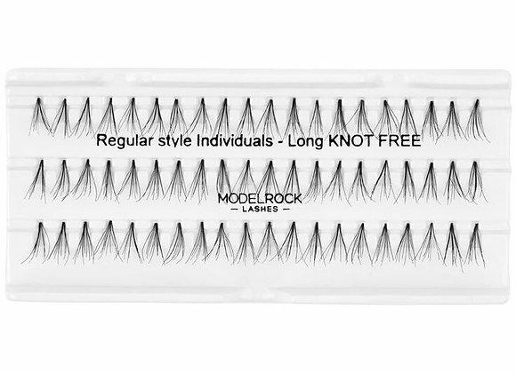 Modelrock Individual Eyelashes - Regular knot free long