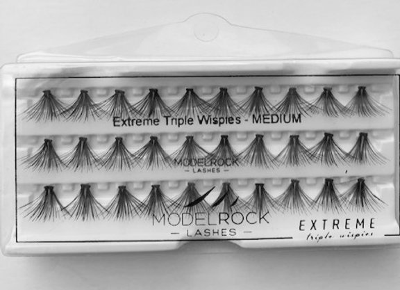 Modelrock individual Eyelashes - Extreme Triple Wispies Medium