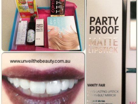 Bella Box Review of Model co Party Proof Matte Lipstick