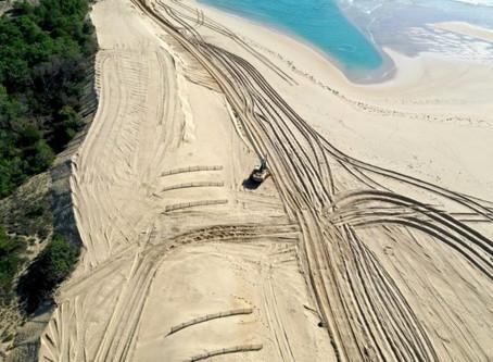 Cap Ferret : des travaux de réensablement d'urgence