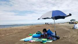 Spacious Zenibako Beach/ 宽敞的泽尼巴科海滩/広々とした銭函海岸