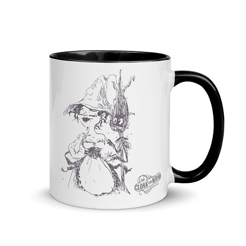 The Cloak and Wand 11oz Mug - Witch Design