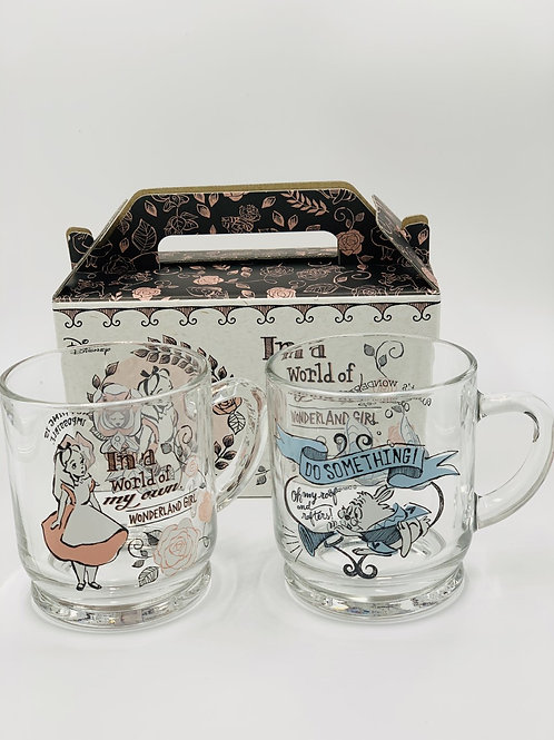 Alice / White Rabbit Glass Set