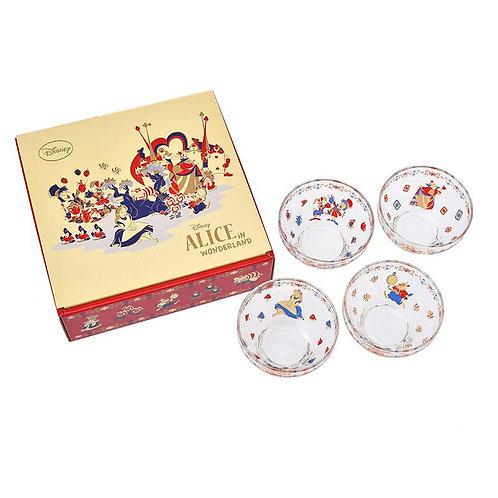 Alice in Wonderland  Glass Bowl Set 4pcs