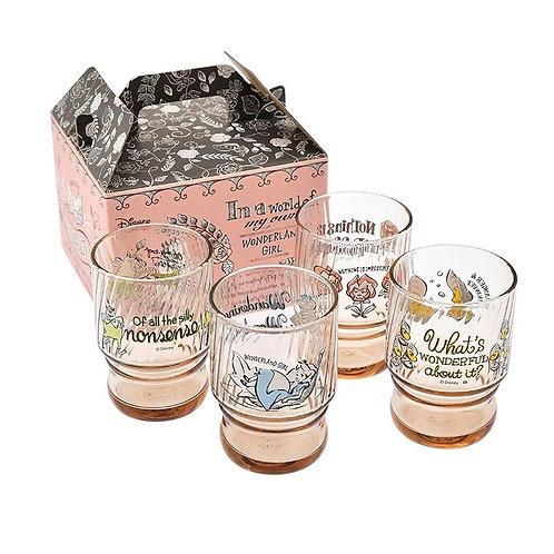 Alice in Wonderland Glass Cup Set