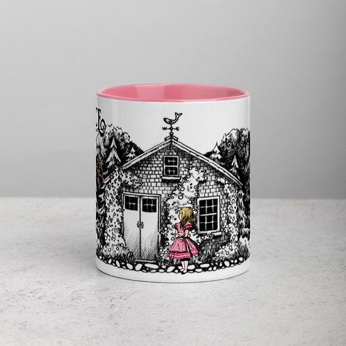 Alice in the Village 11oz Pink Mug