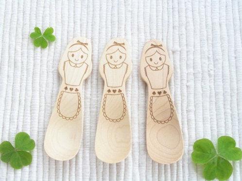Wonderland Wood Spoon and Fork