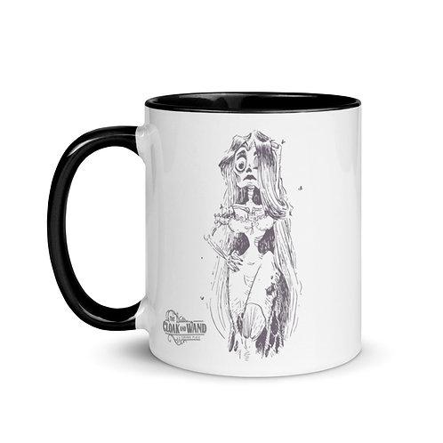 The Cloak and Wand 11 oz Mug - Zombie Girl Design