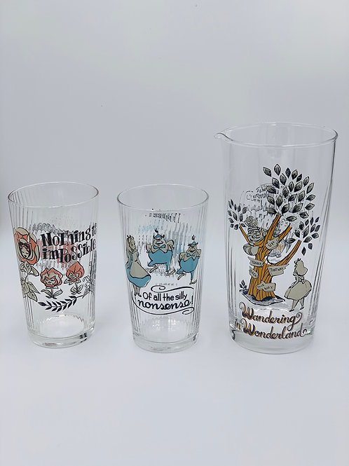 Alice in Wonderland Glass Set