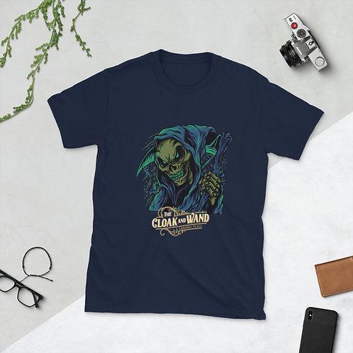 The Cloak and wand Unisex T-Shirt - Ripper Design (Navy Blue)