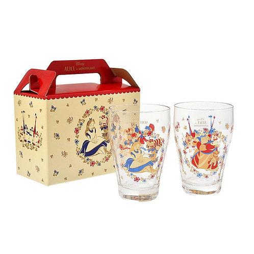 Alice in Wonderland Queen of Hearts Glass Cup Set