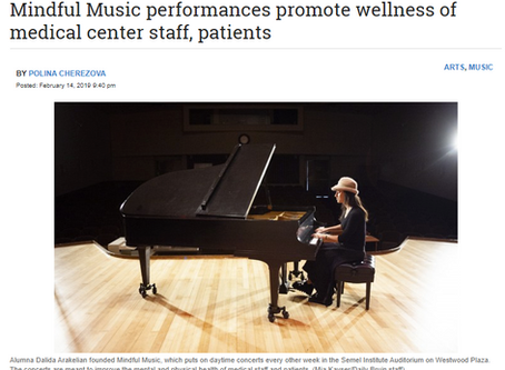 Mindful Music on Daily Bruin Front Page Report