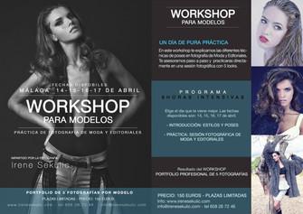 WORKSHOP PARA MODELOS :: MÁLAGA 14-15-16-17 DE ABRIL