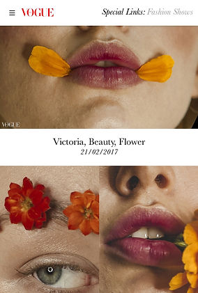 Flower published on Vogue Italia