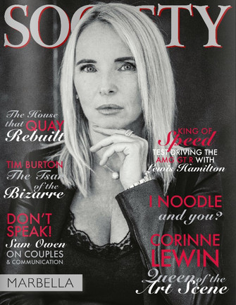 Society Magazine Cover story: Art influencer Corinne Lewin