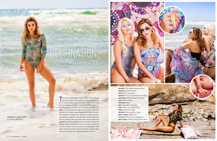Magazine editorial, Hair by Deborah Lynn Arboleda of Beauty Artistree