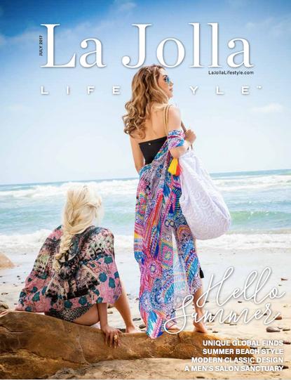 La Jolla Lifestyle Magazine cover shot, Hair designed by Deborah Lynn Arboleda