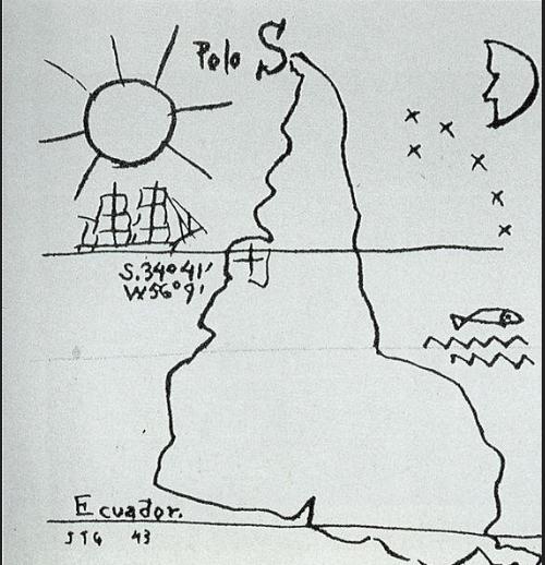 América Invertida is a 1943 pen and ink drawing by Joaquín Torres García.