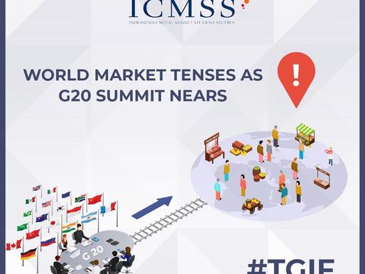 World Market Tenses as G20 Summit Nears