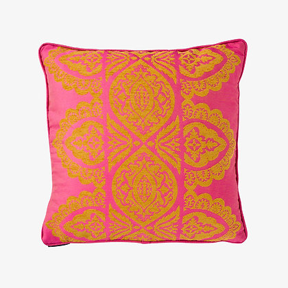 India Cushion, Jaipur Pink / Gold