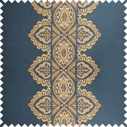 Swatch of India Silk Fabric, Neelaa / Gold