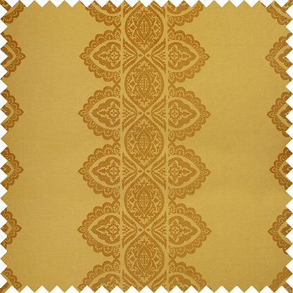 Swatch of India Chenille Fabric, Peela / Gold (reversible)
