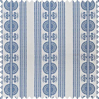 Swatch of Kurpie Fabric, Blue