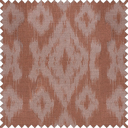 Swatch of Ikat,  Pink Rust