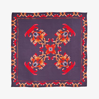 Flame 100% Silk Scarf, Multicoloured