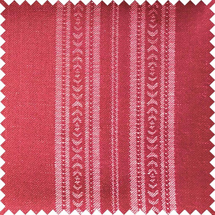 Swatch of Memory Stripe Fabric, Red