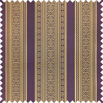 Swatch of Hungarica Viscose Blend Fabric, Brass / Blackberry (reversible)