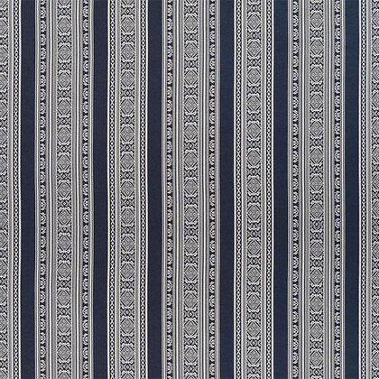 Hungarica 100% Silk Fabric, Budapest Blue / White