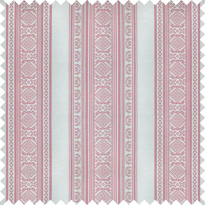 Swatch of Hungarica Fabric, Ecru / Petal (reversible)