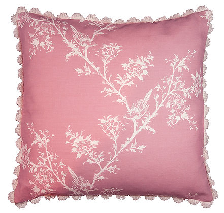 Victorian Tale Cushion in Blossom with Fan Edge Trim