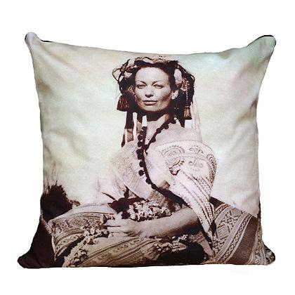 Amazon Cushion, Sepia