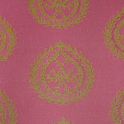 Medallions Fabric, Blush Pink / Gold