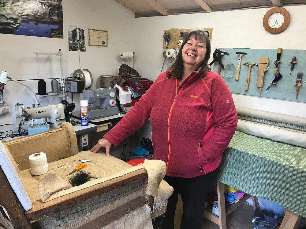 Mandy in her Workshop in Teynham