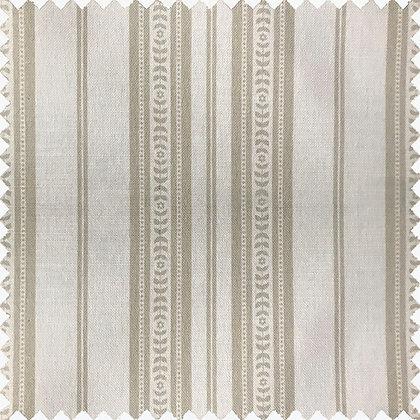 Memory Stripe Print, White on Oatmeal