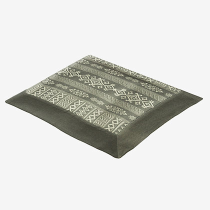 Arabica Tablecloth, Charcoal / White