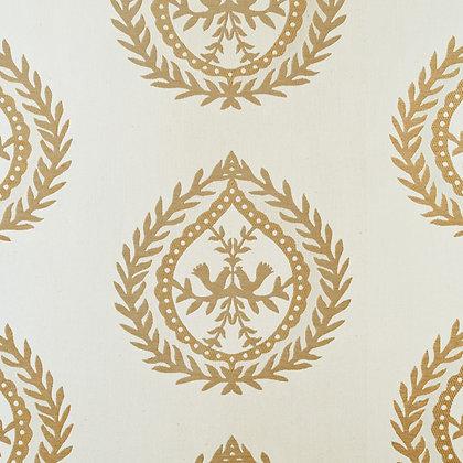 Medallions Fabric, Cream / Gold