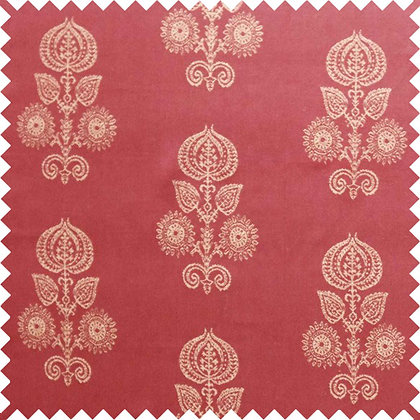 Swatch of Memory Floral Fabric, Red