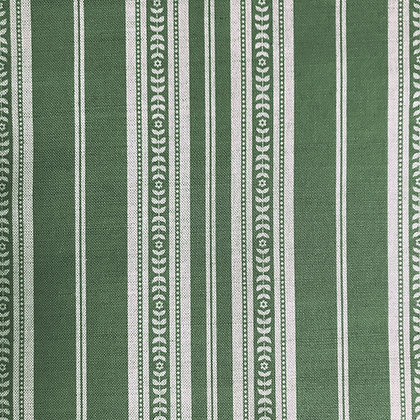 Memory Stripe Print, Natural on Green