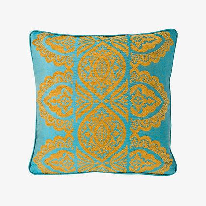 India Cushion, Krishna Blue / Gold