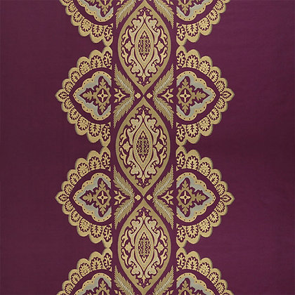 India Silk Fabric, Gulaabee / Gold