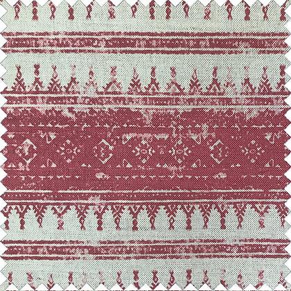Swatch of Tribes Horizontal Stripe, Raspberry