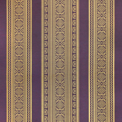 Hungarica Viscose Blend Fabric, Brass / Blackberry (reversible)