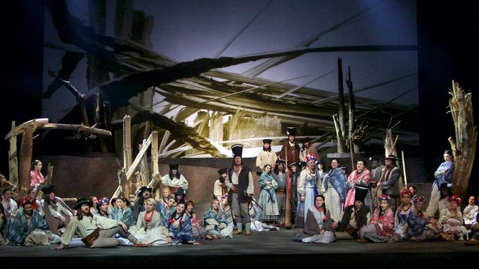 Julia Brendel fabric designs showcased in the opera 'Halka' by Stanislaw Moniuszko