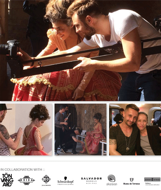 Images from the film set featuring Director: Grégoire Thiry Starring: Aida Flix   Fashion Designer: Darío Marquez Creative Director: Raul Cabello and myself